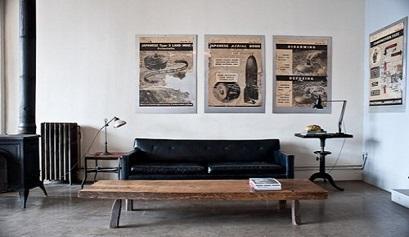 decoracion-industrial- cuadros periodico